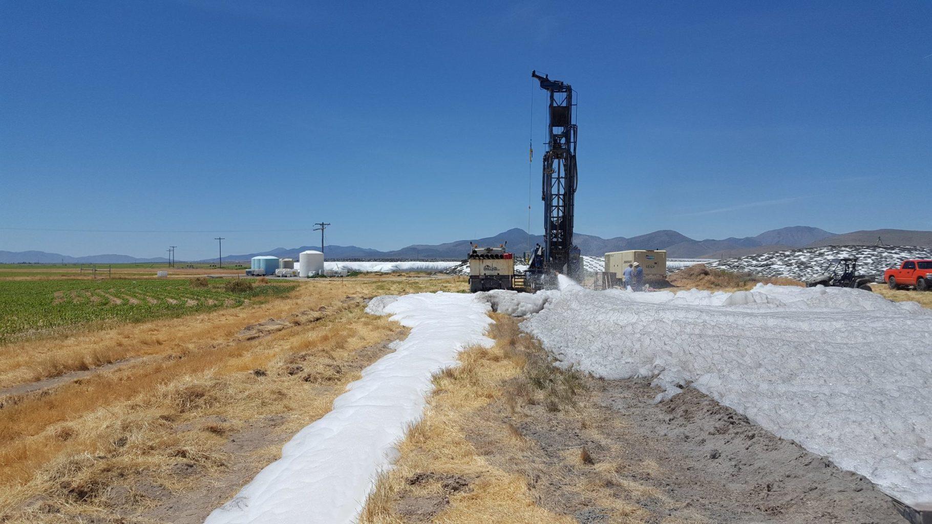 Test hole drilling Utah